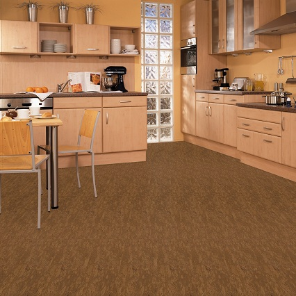Wicanders Cork Tile Flooring in the Kitchen